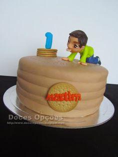 Doces Opções: Bolo do primeiro aniversário do Martim que adora b...