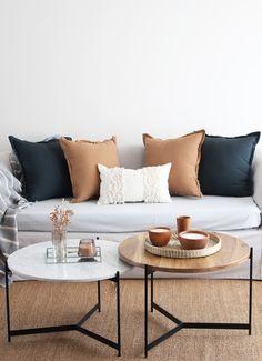 Mesas ratonas - Comprar en Arista Deco Living Room Designs, Living Room Decor, Mesa Sofa, Creative Decor, Home Interior Design, Sweet Home, New Homes, House Design, Art Deco