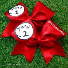 "Cheer bow of the day. by @switchupessentials ""A twist on our popular Thing 1 & Thing 2 bows! These were designed by @ceceyelwop for herself and gorgeous twin sister. "" #drseuss Tag #cheerbowoftheday to be featured. #cheerbow #cheerbows #beautiful #cheer #cheerleading #cheerleader #cheerleaders #allstarcheer #glitter #allstarcheerleading #cheerislife #bows #hairbow #hairbows #bling #hairaccessories #bigbows #bigbow #teambows #fabricbows #hairclips #sparkle #instafashion #style"