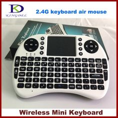 2.4GHz Wireless Mini Keyboard English QWERTY Keyboard with battery for PC, TV Box, HTPC, Handheld Keyboard with Touchpad