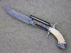 Ornate 'Pistol-Knife'- Knife for Gunfight