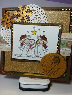 Christmas card Handmade Christmas, Handmade Cards, Christmas Cards, Angels, Scrap, Craft Cards, Christmas E Cards, Scrap Material, Card Making