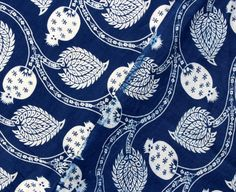 5 Yard Indigo Vegetable Dye fabric Cotton Fabric Printed Indian Prints, Indian Textiles, Indian Fabric, Blue Fabric, Cotton Fabric, Fabric Design, Print Design, Fabric Wallpaper, Wood Print
