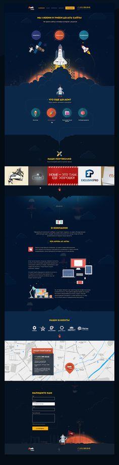 NaMars Web-Studio ReDesign on Behance