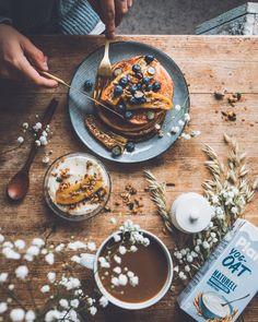 Granola, Pancakes, Breakfast, Food, Morning Coffee, Essen, Pancake, Meals, Yemek
