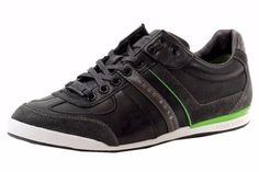 Boss-Sneakers-Hugo-Shoes-Men-Mens-Green-S-Size-Fashion-Trainers-New-Leather