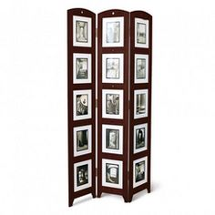 memories photo frame room divider rosewood 4 panel approximate picture opening sizes35 x 45 inches 4 openings4 x 6 inches 4 openings5 x 7 u2026
