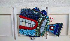 Hipster fish mosaic, by Nataša Grohar