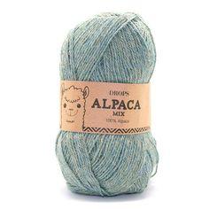 Drops Alpaca Mix -       Naalddikte: 2,5-3,5     Gewicht: 50 gr.     Lengte: 167 m     Proeflapje 10x10cm: 23 steken x 30 naalden     Samenstelling: 100% Alpacawol