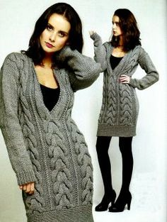 Knitting Projects, Knitting Patterns, Madona, Thick Sweaters, Cozy Fashion, How To Wear, Dresses, Style, Knits