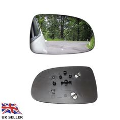 Right Driver Side WING DOOR MIRROR GLASS For Mercedes SL-Class 2004-08 Stick On
