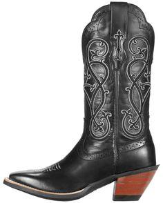 Ariat Women's County Line Boot - Black Deertan