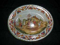 Vintage English Daher Tin Tray Dancing Under the May pole