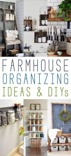 Farmhouse Organizing Ideas and DIY's - The Cottage Market:
