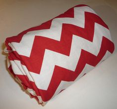 Red Chevron Minky Stroller Blanket by Greenerbeginnings on Etsy, $34.00