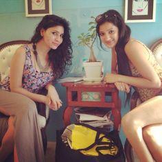 Richa Panai With Childhood Friend