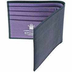 Ettinger Sterling Purple Billfold Wallet #Repin by https://www.kensington-bespoke.uk - Bringing the #chic and #style of #Kensington High Street direct to your home.