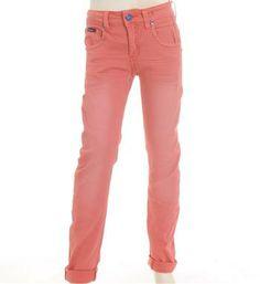 Retour jeans Lange broek model Fabiano met een curved slim fit, in Koraal rood - NummerZestien.eu