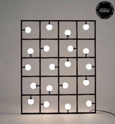 Square Floor/ Wall Lamp by Areti. / BEST OF MILAN DESIGN WEEK 2013 / http://www.yatzer.com/best-of-milan-design-week-2013 /