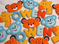 Jungle Fun Decorated Sugar Cookie Collection by MartaIngros