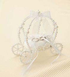 エターナルリングピロー馬車(ホワイト)手作りキット<シェリーマリエ・リングピローコーナー>