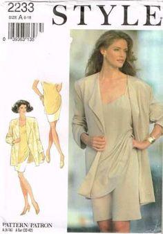 2233 Sewing Pattern Ladies Camisole Top Skirt Jacket 6 8 10 12 14 16