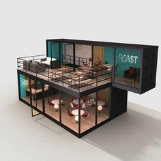 Source Prefab House Made in China Mobile Pop Up Coffee Shop Container on You can find Pop up shops . Building A Container Home, Container Buildings, Container Architecture, Container House Plans, Container Houses, Container Cabin, Cargo Container, Sustainable Architecture, Cafe Interior Design