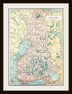 Antique Map - FINLAND 1924 Map Page Buy 3 Get 1 Free by KnickofTime, $9.00
