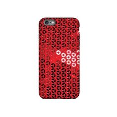 shiny red sequins iPhone 6 Plus/6s Plus Tough Case ($30) ❤ liked on Polyvore featuring accessories, tech accessories, glamor, glitter and sequined