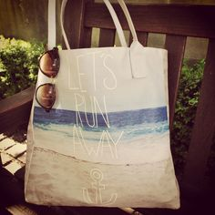 'Let's Run Away' tote bag designed by Leah Flores. The perfect travel companion! Buy it here: http://createandcase.com/65-tote-bags