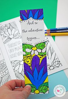 When I get a chance to relax, two of my favorite things are adult coloring or reading a book. Free Printable Adult Coloring Bookmarks Page.