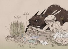 Chiara Bautista me encantan estas ilustraciones soy una hija de la madre conejo y tu un lobo del bosque? :3