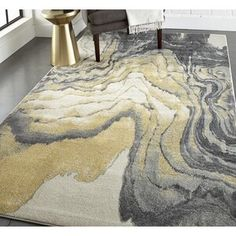 Well Woven Rosa Gold/Gray Rug   Wayfair Yellow Rug, Yellow Area Rugs, Orange Area Rug, White Area Rug, Beige Area Rugs, Blue Yellow, Black And Grey Rugs, Gray, Black Gold