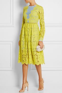 Preen by Thornton Bregazzi | Berwick lace and crepe de chine dress | NET-A-PORTER.COM