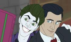 John doe ( joker ) and bruce wayne take a selfie (from batman the enemy within) Batman Telltale, The Enemy Within, Some Jokes, John Doe, Im Batman, Bats, Gotham, Lego, Joker