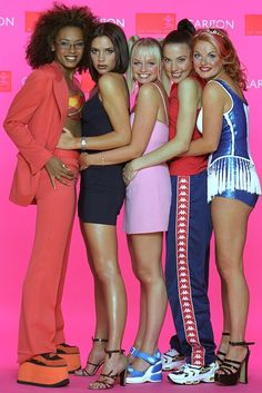 The Spice Girls at a 1997 royal gala concert.