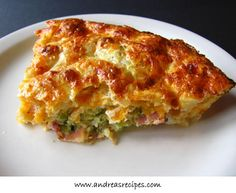 This crustless quiche recipe from Aunt Joey is tasty and easy, and a great way to use leftover ham. There are plenty of variations and our favorite is with Sauteed Spinach. Making this gluten-free is easy since there is no crust, just make sure your cottage cheese and ham are gluten-free. The