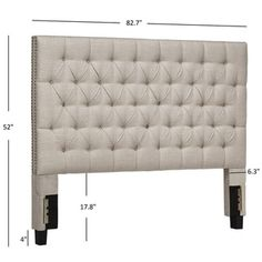 Darlington Button Tufted Headboard - Queen - Oatmeal - Inspire Q, Beige Tufted Headboard Queen, Wingback Headboard, Panel Headboard, Panel Bed, Bedroom Furniture Stores, Furniture Deals, Bed Furniture, Adjustable Beds, Bed Frame