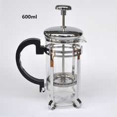 600ML silver glass filter coffee maker / tea strainer percolating cup coffee machine tea cup coffee filter tools Kitchen Tools