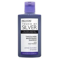 Provoke - Touch of Silver. Neutralizes brass and yellow tones. Twice weekly treatment.