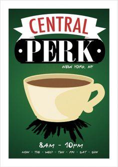 Central Perk - Friends - Comédia - Séries   Posters Minimalistas