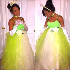 Cosplay princess Tiana Homemade costume. & Costume Ideas for Women: How to Dress Up as Princess Tiana (Disneyu0027s ...
