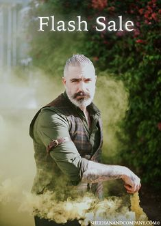 FLASH SALE ... Sheehan & Co is offering an ADDITIONAL 10% off all items! Double discounts apply! USE PROMO CODE: Flash sale Daniel Sheehan, Sexy Tattooed Men, Leather Suspenders, Beard Tattoo, Bearded Men, My Man, Editorial Photography, Character Inspiration, Men's Fashion