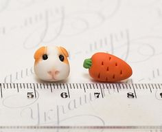 Guinea pig is real vegetarian! Shes like as a little cow, eating vegetables and grass. I love the guinea pigs!  This is a pair hand sculpted cute Guinea Pig and carrot stud earrings. No mold! Handwork. Animal jewelry with funny pet animal is made by myself from polymer clay. You can choose pair of earrings: Guinea Pig + carrot or carrot +carrot  The diameter of earrings is 1 -1,5 cm.  You can choose earrings stud material. Steel or sterling silver studs  I can pack leaf earrings into the…