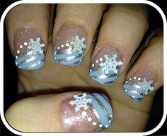 I'm dreaming of a white #christmas #nailart