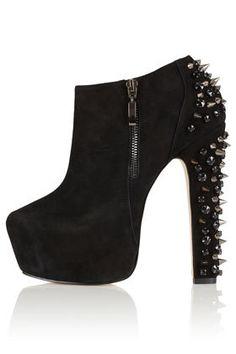 ARISTOCRAT Stud Heel Shoe Boot - High Heels - Boots - Shoes booties