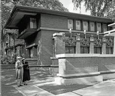 Meyer May House with Frank Lloyd Wright, 450 Madison SE - May 24, 1949