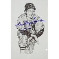 VINTAGE Whitey Ford hand-signed autographed New York Yankees Postcard PSA/DNA COA!