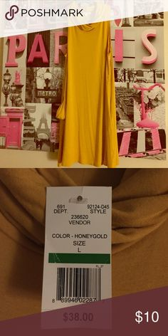 💛Honeygold neck dress💛 Gorgeous dress! Turtle neck! Brand new has never been worn Nordstrom Dresses High Low