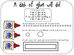 Teach your students how to use drip glue the right way with this fun freebie. Checkout this great post on Preschool Printables!